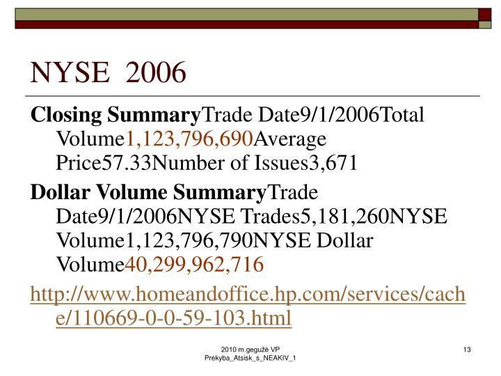NYSE  2006