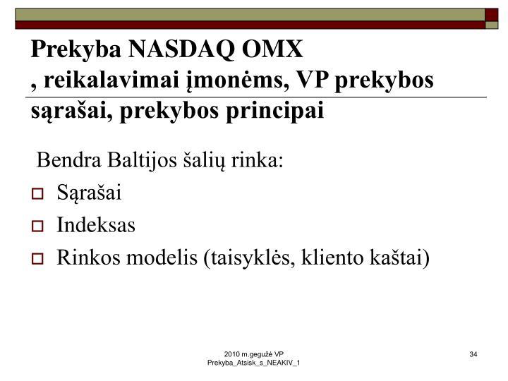 Prekyba NASDAQ OMX