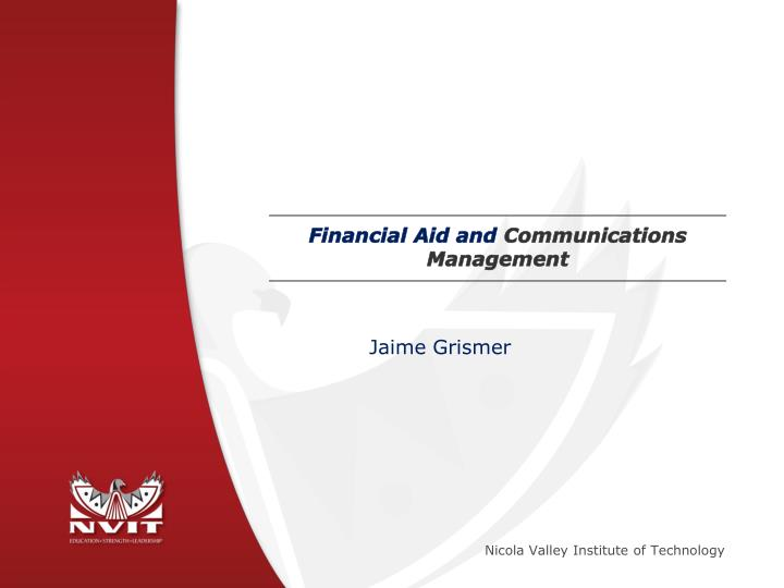 Financial aid and communications management