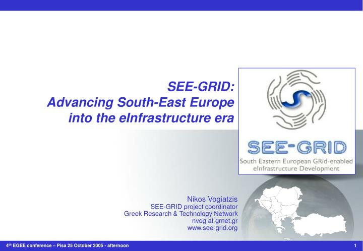 See grid advancing south east europe into the einfrastructure era