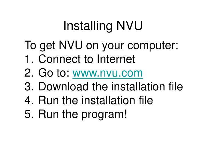 Installing NVU