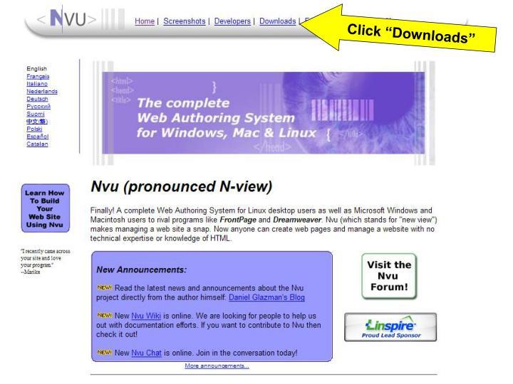 "Click ""Downloads"""
