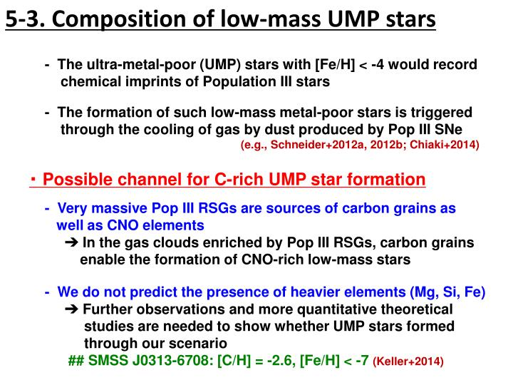 5-3. Composition of low-mass UMP stars