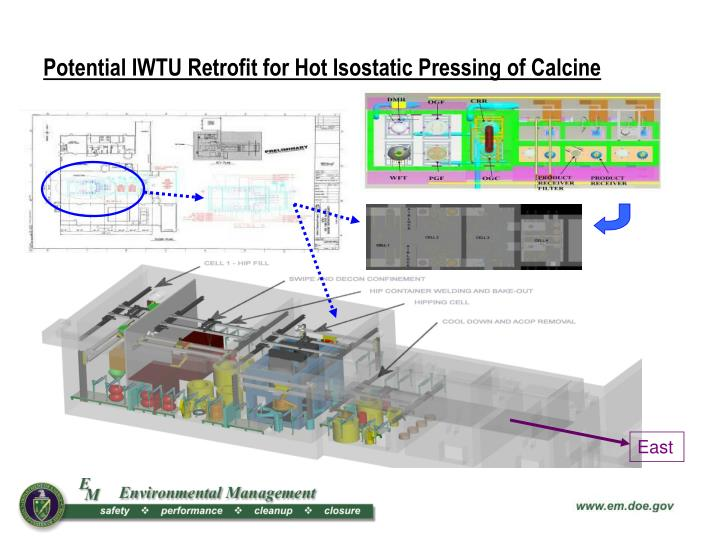 Potential IWTU Retrofit for Hot Isostatic Pressing of Calcine
