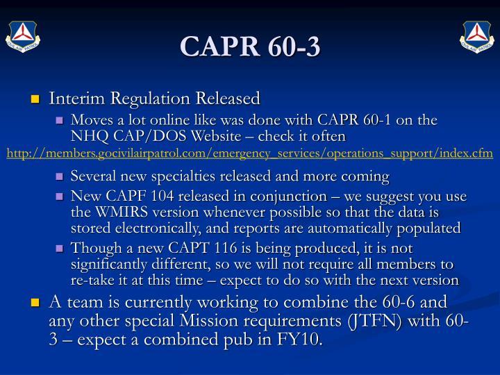 CAPR 60-3