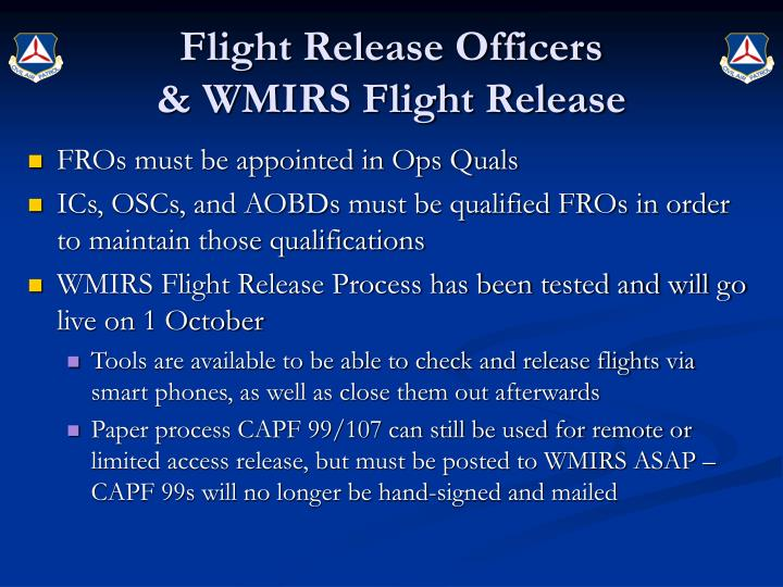 Flight Release Officers