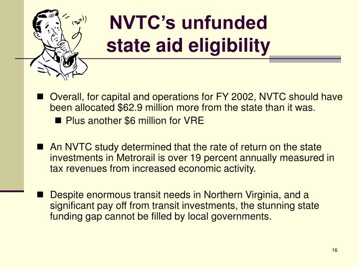 NVTC's unfunded
