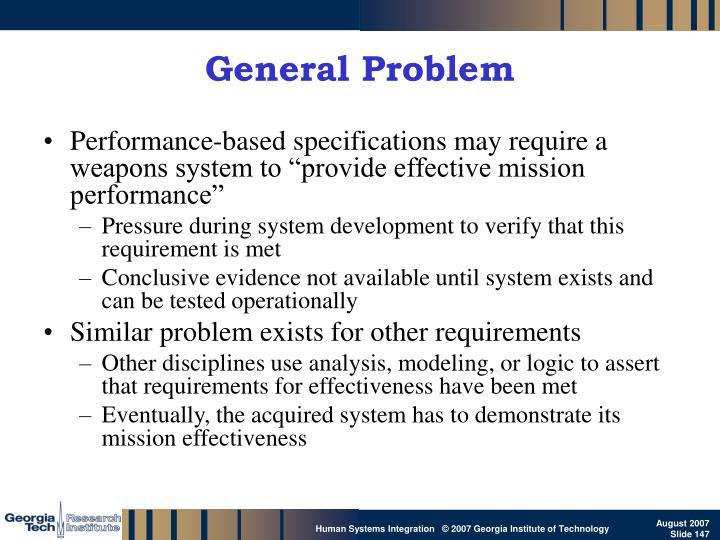 General Problem
