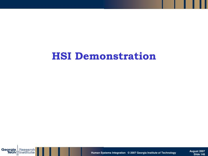 HSI Demonstration