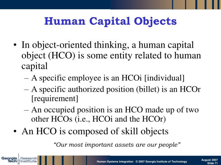 Human Capital Objects