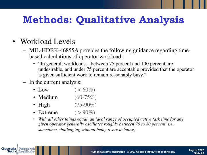 Methods: Qualitative Analysis