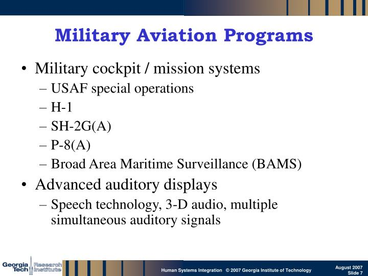 Military Aviation Programs