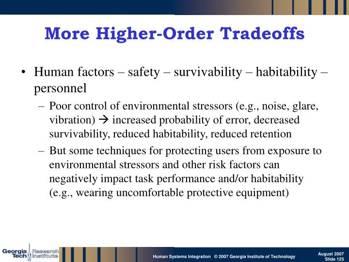 More Higher-Order Tradeoffs