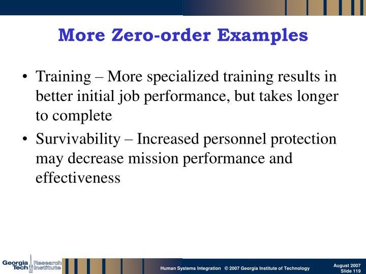 More Zero-order Examples