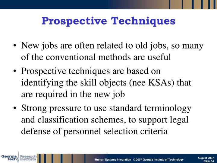 Prospective Techniques