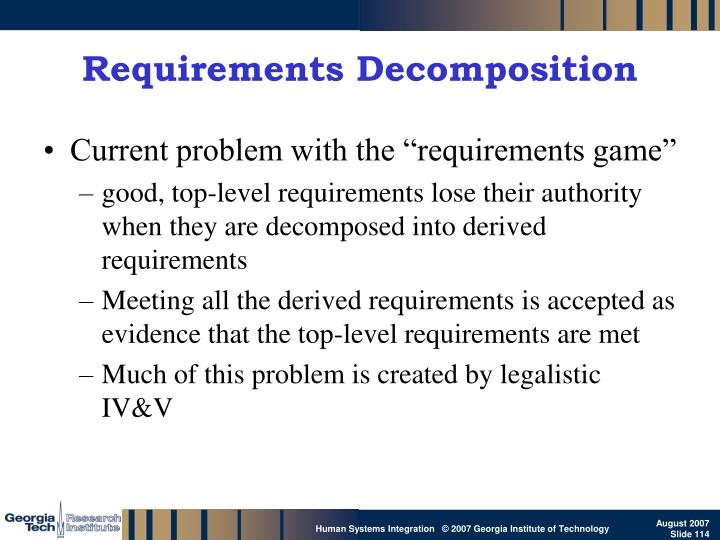 Requirements Decomposition