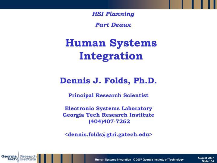 HSI Planning