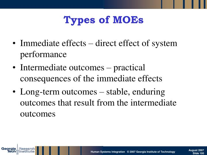 Types of MOEs