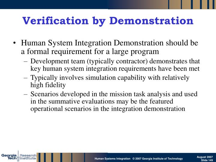 Verification by Demonstration