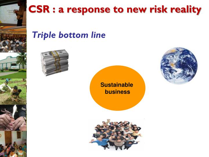 CSR : a response to new risk reality