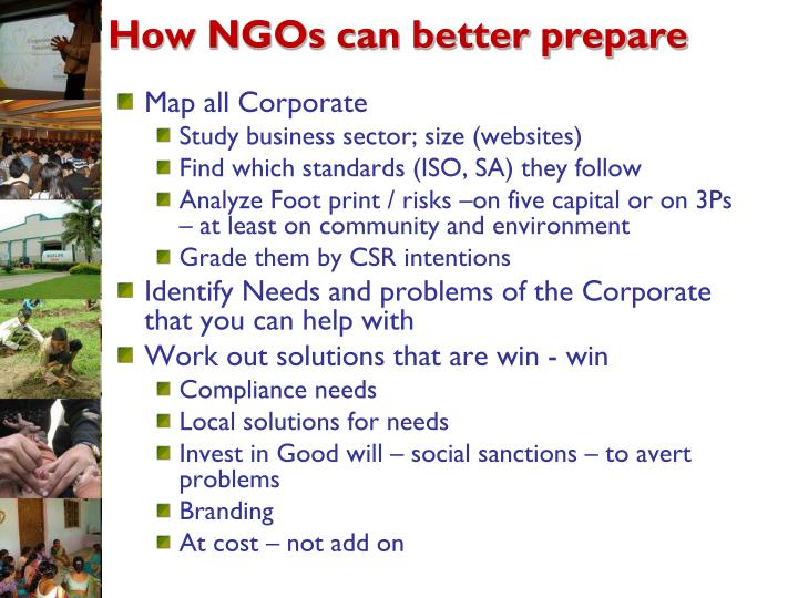 How NGOs can better prepare
