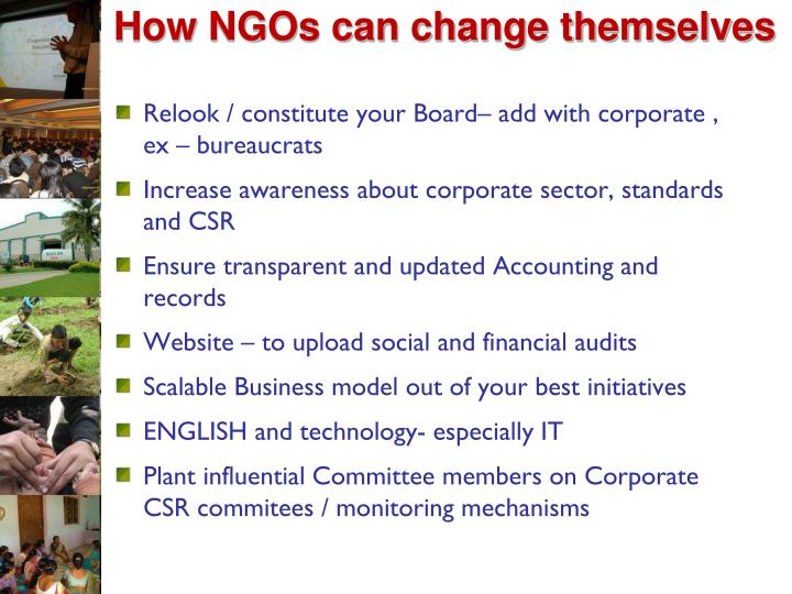 How NGOs can change themselves