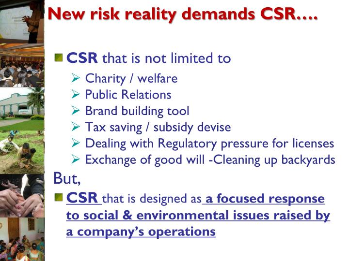 New risk reality demands CSR….