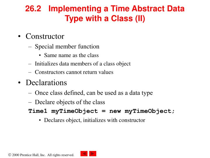 26.2 Implementing a Time Abstract Data Type with a Class (II)