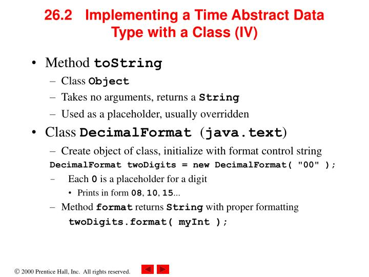 26.2 Implementing a Time Abstract Data Type with a Class (IV)