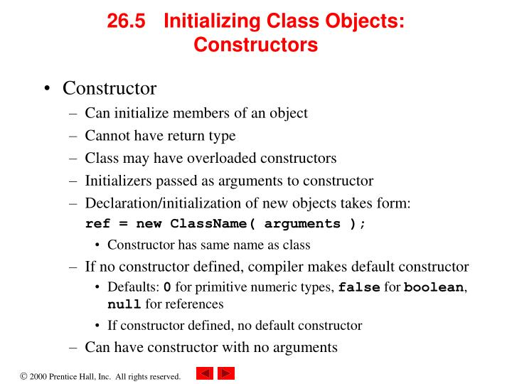 26.5 Initializing Class Objects: Constructors
