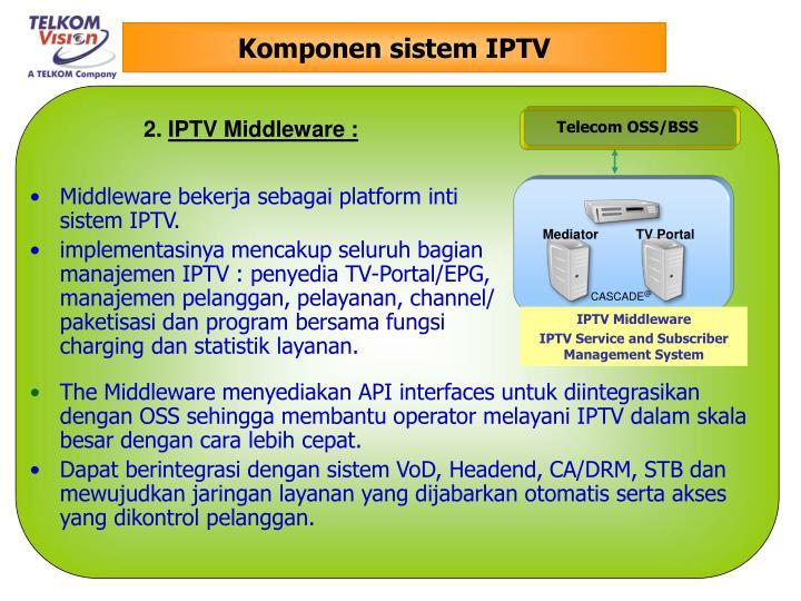 Komponen sistem IPTV