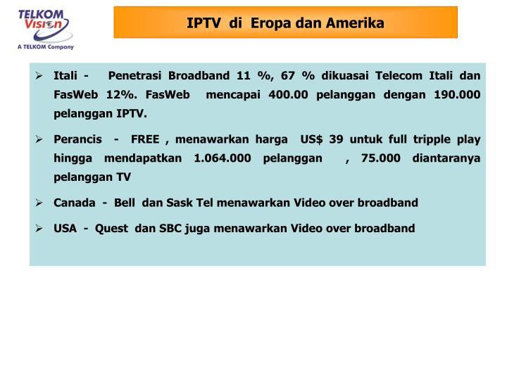 IPTV  di  Eropa dan Amerika