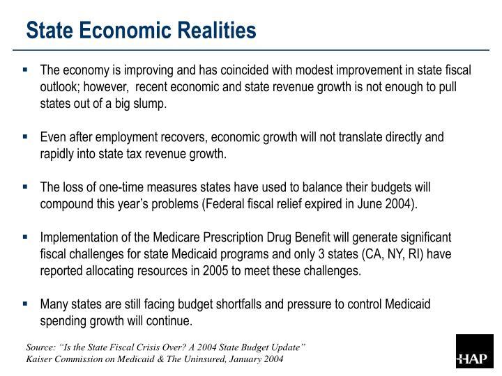 State Economic Realities
