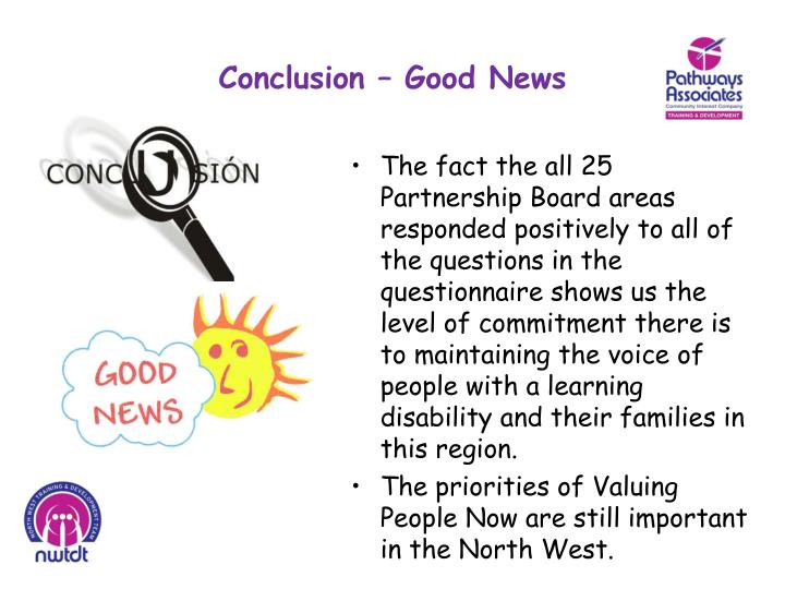 Conclusion – Good News