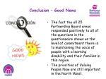 conclusion good news