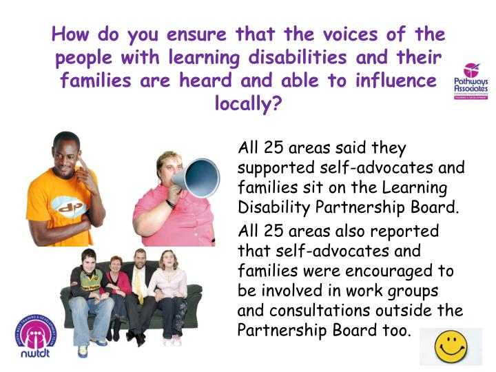 How do you ensure that the voices of the people with learning disabilities and their families are heard and able to influence locally?
