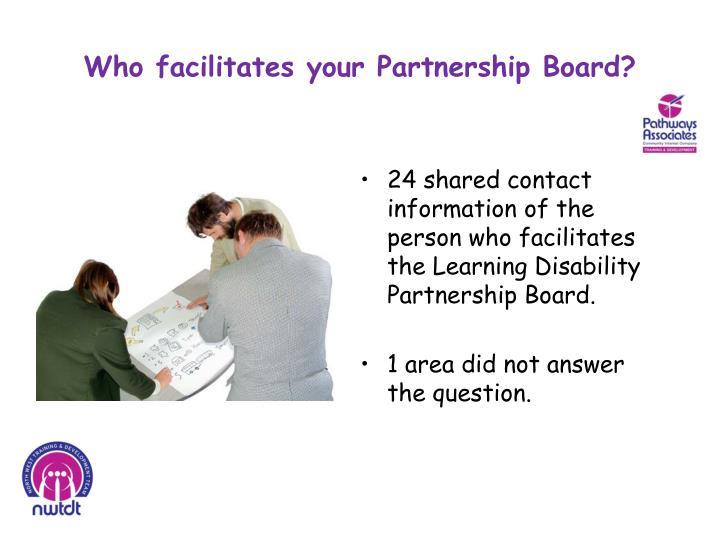 Who facilitates your Partnership Board?