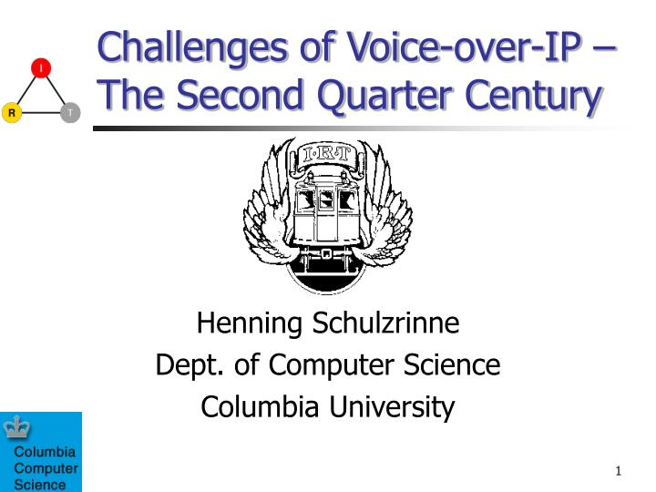 challenges of voice over ip the second quarter century