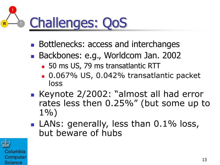 Challenges: QoS