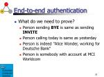 end to end authentication
