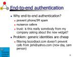 end to end authentication1
