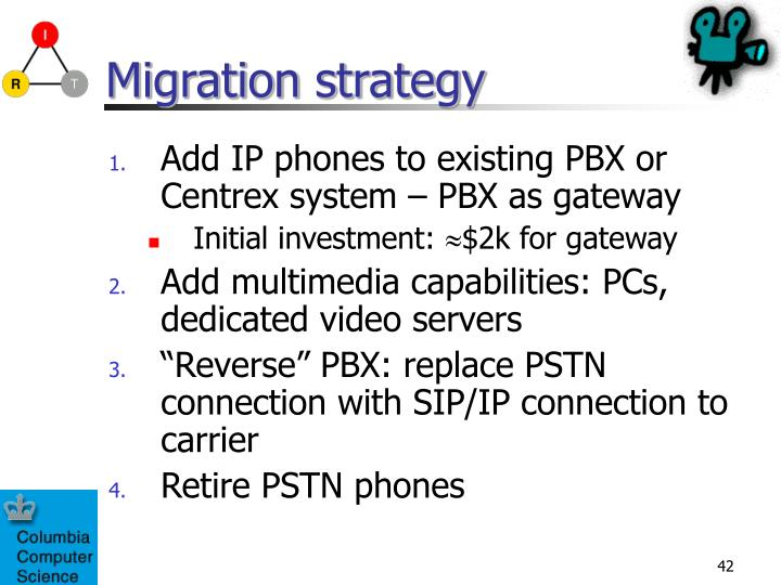 Migration strategy