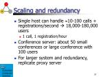 scaling and redundancy
