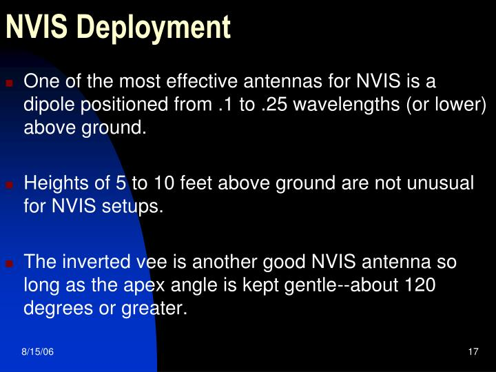 NVIS Deployment