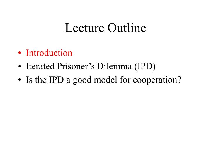 Lecture outline1