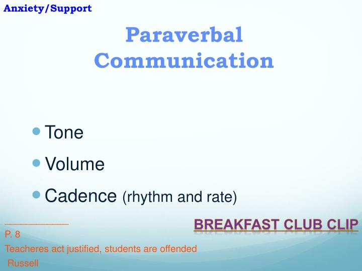 nonverbal communication of the breakfast club Chapter 6: film database: chapter list:  nonverbal communication, emotions, and dialectical tensions  breakfast club, the.