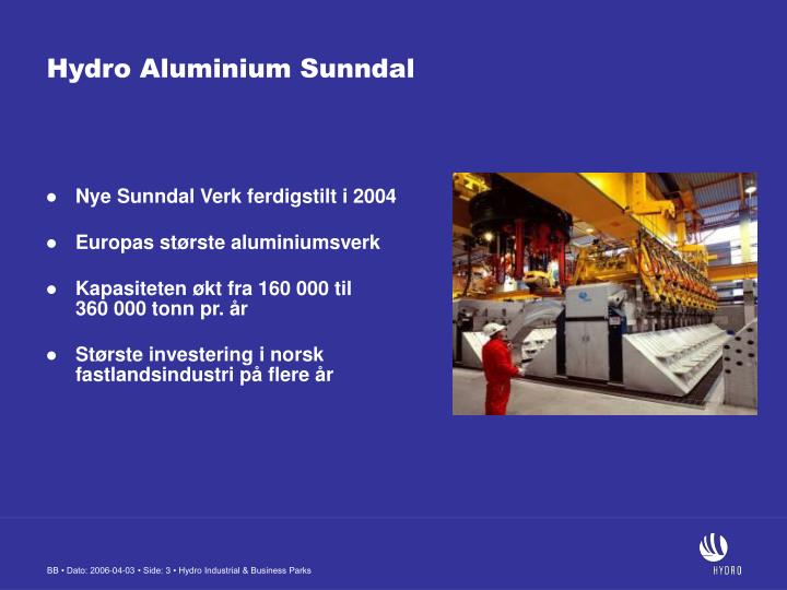 Hydro Aluminium Sunndal