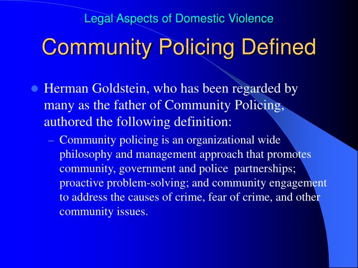 Community Policing Defined