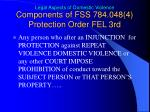 components of fss 784 048 4 protection order fel 3rd