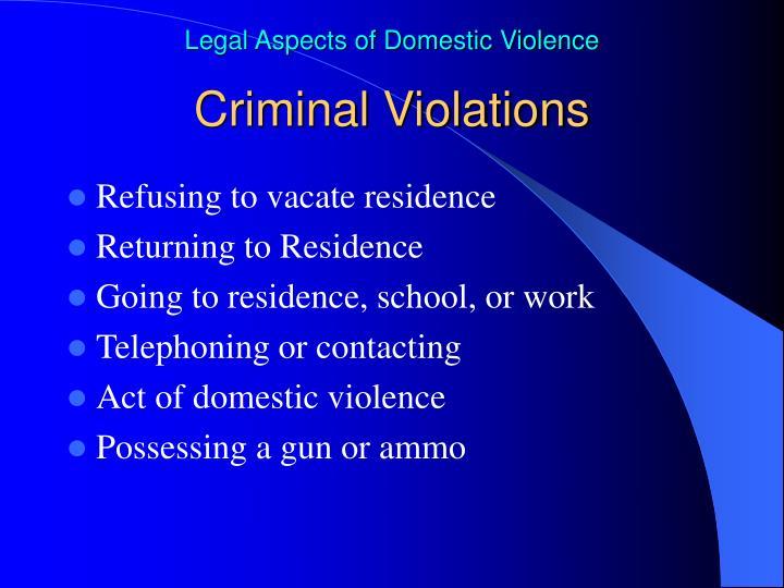 Criminal Violations
